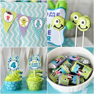 Monsters Inc Birthday Party - Love of Family & Home