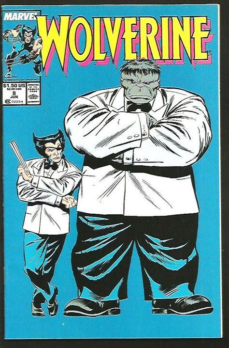 WOLVERINE #8 HULK VF+/NM- High Grade Marvel Comics 1989 ...