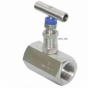 Needle Valve 1  2 U0026quot  Female Npt 6000 Psi Stainless  Delrin Seats  Nace New