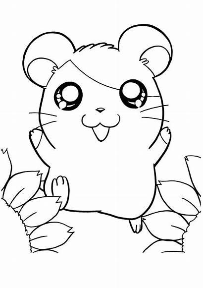 Coloring Hamster Hamtaro Colouring Mewarnai Dibujos Atomic