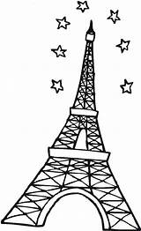 Eiffel Tower Coloring Paris Pages Outline Sky Stars Pdf Drawing Clipart Cartoon Mandala Printable Resume Format Sketch Clipartmag Template Computer sketch template
