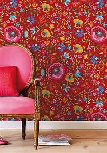 Papier Peint Fleuri Vintage : l 39 univers fleuri pip en papier peint mademoiselle d co blog d co ~ Melissatoandfro.com Idées de Décoration