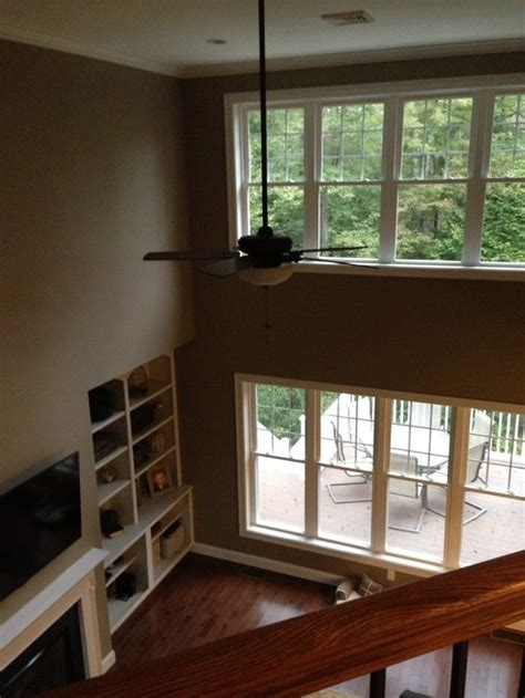 two story windows in family room help