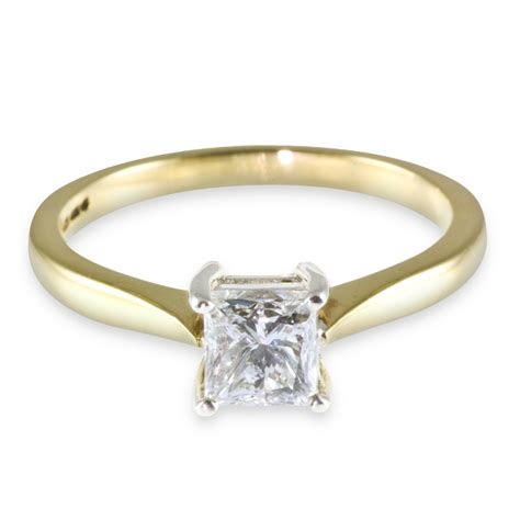 yellow gold wedding rings 18ct yellow gold princess cut wedding ring ipunya