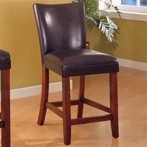 fabric counter stools telegraph set of 2 brown fabric cherry bar stools 3649