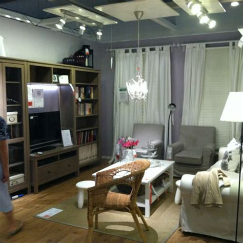 ikea showroom small gray living room hemnes