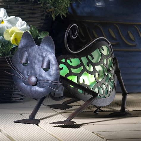 animalites cat solar garden ornament on sale fast