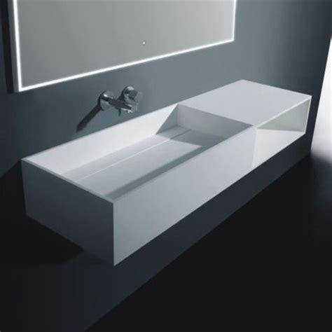 meuble salle de bain suspendu 120x40 cm composite blanc mineral