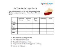 printable logic puzzles  kids  images math
