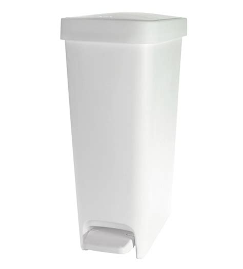 Oxo Kitchen Garbage Cans by Oxo 10 1 2 Gallon Slim Step Trash Can White In Kitchen
