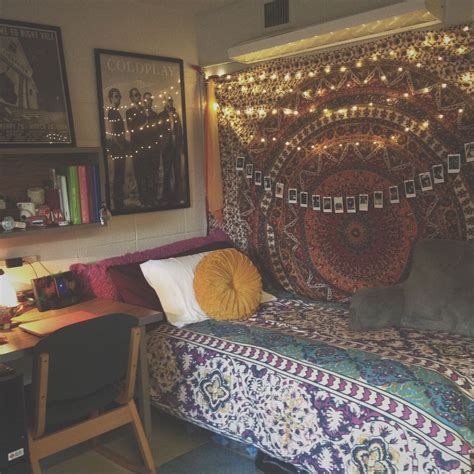Dorm Room Decorating Ideas By Style  Dorm, Tapestry And