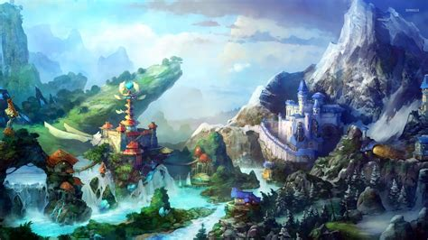 video anime genre fantasy fantasy waterfall wallpapers 9 1920 x 1080 stmed net