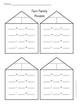 fact family houses blank  images fact families
