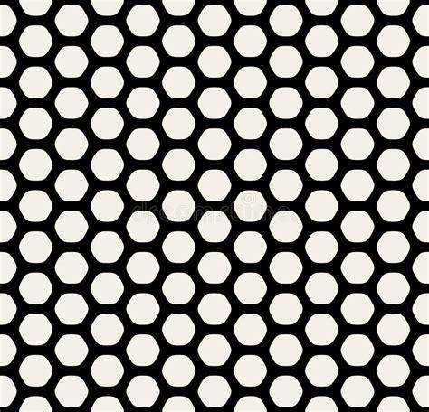Vektornahtlose Gerundete Hexagonschwarzweisslinie