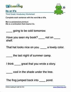3rd Grade It U0026 39 S Or Its Worksheet