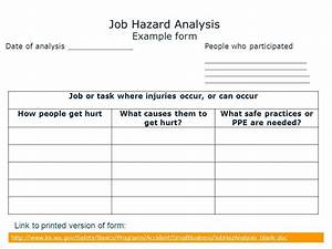 job hazard analysis form asliaetherairco With job hazard assessment template