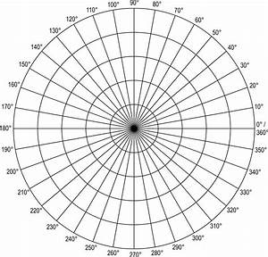 unit circle graph paper polar grid in degrees with radius 5 clipart etc