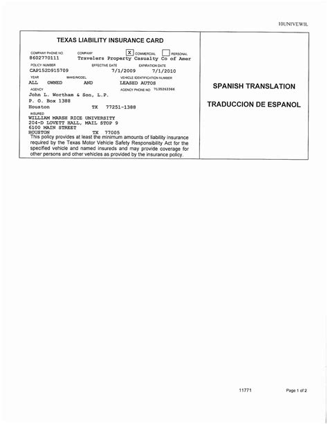 auto insurance card insurance card template pdf the history of insurance card