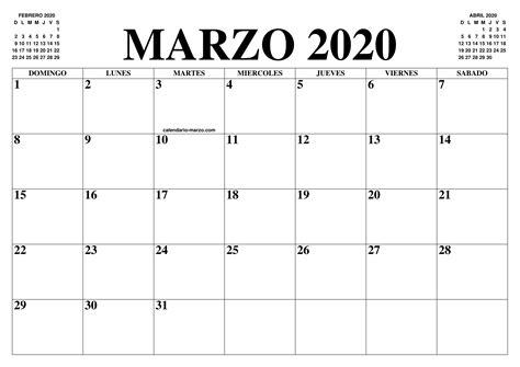 calendario marzo el calendario marzo imprimir