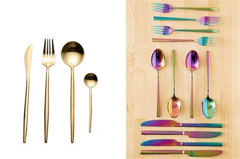 flatware silverware sets steel stainless lekoch amazon