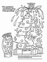 Fire Sheet Advocate Sprinkler Coloring Holidays sketch template