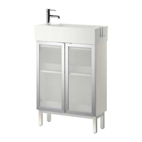 Ikea Sink Kitchen Cabinet by Lill 197 Ngen Sink Cabinet With 2 Doors Aluminum 60x27x93