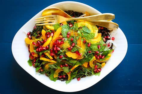mes recettes de cuisine salade gourmande colorée à la courge et ses petites