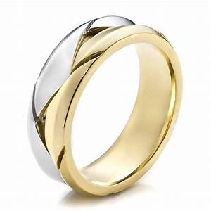 men39s braided two tone wedding band 100125 With wedding rings two tone