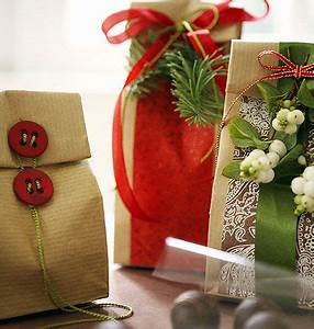 t wrapping present idea fun easy brown paper bag