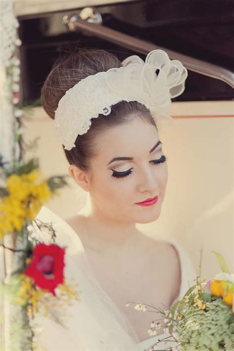 Step back in time with a flirty 50s inspired bridal photoshoot