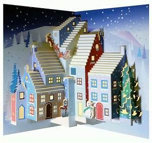 Pop Up Karte Weihnachten : we pop up 3d karte weihnachten gru karte schneemann und santa im weichnachtsdorf 16x11cm 509234 ~ Buech-reservation.com Haus und Dekorationen