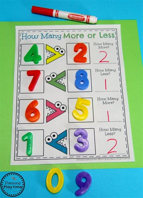 comparing numbers worksheets planning playtime 958 | Greater than Less Than Comparing Numbers Activities for Kindergarten