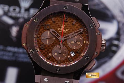 """Check spelling or type a new query. SOLD HUBLOT BIG BANG CHRONOGRAPH """"CHOCOLATE"""" 44mm CERAMIC BEZEL AUTO - Goldman Luxury"""