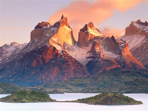Torres Del Paine Dances With Llamas