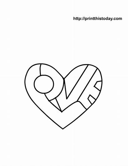 Coloring Heart Hearts Pages Printable Cool Sheets