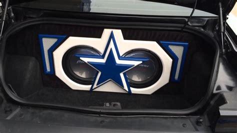 dallas cowboys custom themed trunk build  dodge