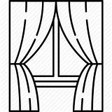 Window Curtains Curtain Drawing Stage Icon Glass Frame Line Clipart Blinds Transparent Furniture Icons Shades Background Broken Open Flaticon Getdrawings sketch template