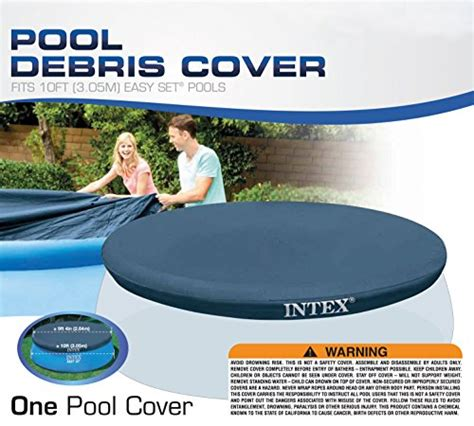 Intex 6 Foot Pool Cover by Intex 10 Foot Round Easy Set Pool Cover Import It All