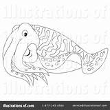 Cuttlefish Clipart Coloring Illustration Bannykh Alex Royalty Getcolorings Rf Pages sketch template