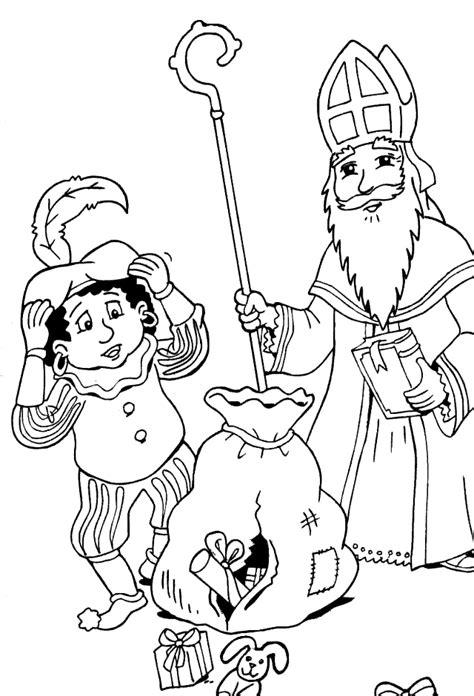 Kleurplaat Sinterklaas Grappig by Sankt Nikolaus Malvorlagen