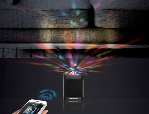 bluetooth speaker with led light show from sharper image