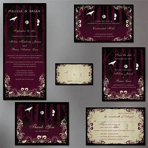Gothic wedding halloween wedding invitation suite goth for Free printable gothic wedding invitations