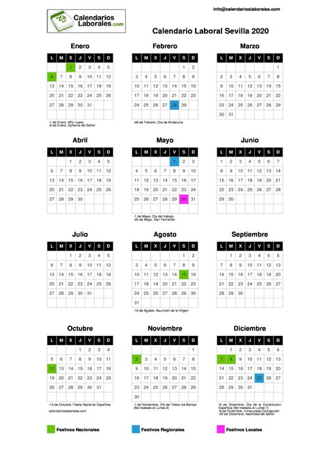 calendario laboral sevilla
