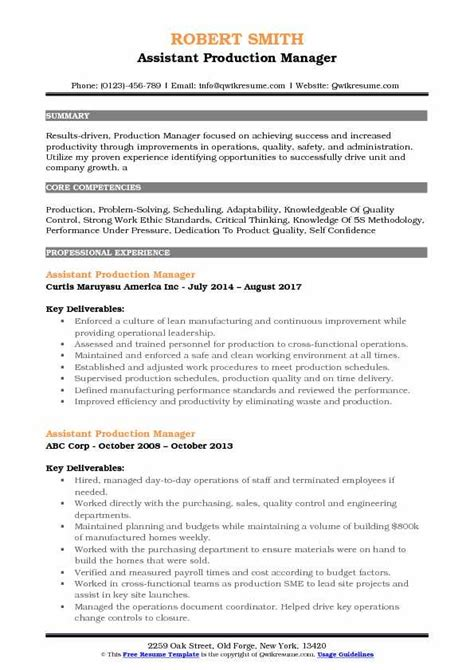 Garment Production Manager Cover Letter Template Job