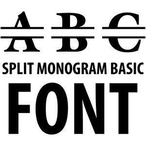 silhouette design store split monogram basic font  monogram fonts silhouette design