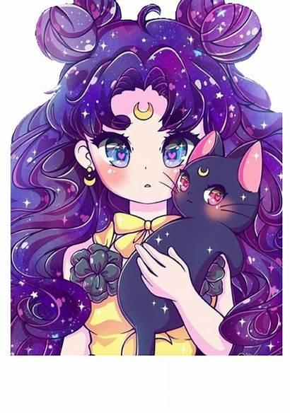 Galaxy Anime Sticker Drawing Picsart Drawings Animegirl