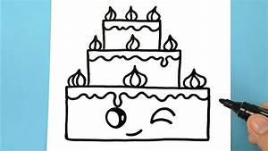 Dessin Gateau Anniversaire : comment dessiner un gateau d 39 anniversaire kawaii tuto ~ Melissatoandfro.com Idées de Décoration