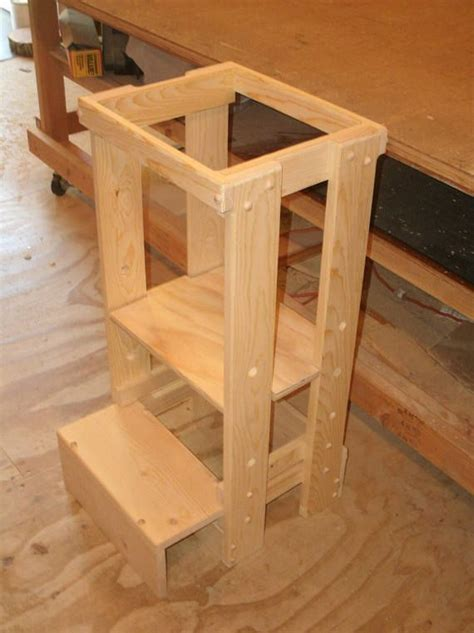 kitchen helper stool sliding bottom step adjustable tot