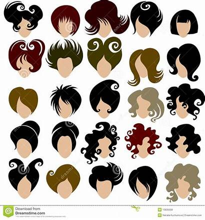 Hair Trendy Vector Clipart Styles Styling Woman