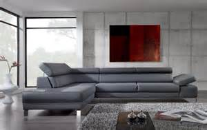 canapé d angle cuir gris anthracite le canapé d 39 angle en cuir 60 idées d 39 aménagement